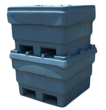 Rhino Single Wall Bins - Stacked